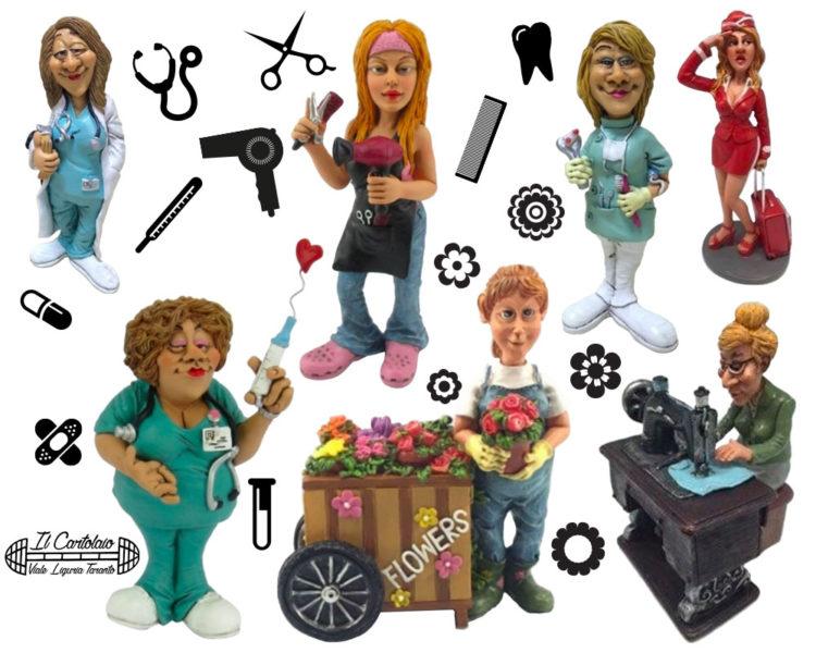 caricature mestieri donne