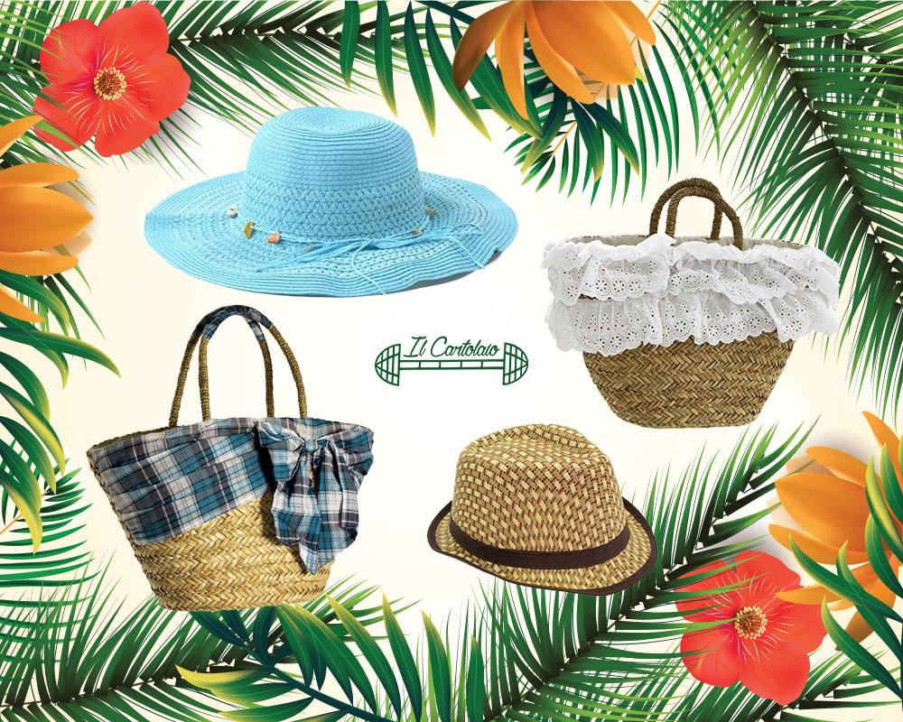 Le borse e i cappelli in paglia per l'estate 2017